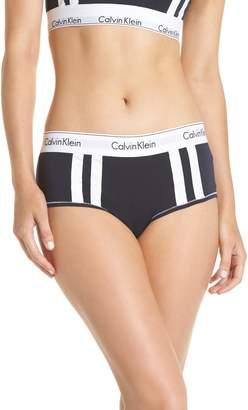 Calvin Klein Modern Cotton Blend Stripe Boyshorts