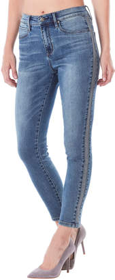 Nicole Miller New York Soho Whiskered Beaded Skinny Jeans