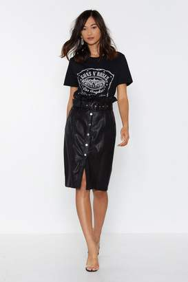 Nasty Gal Cat's Out the Paperbag Faux Leather Skirt