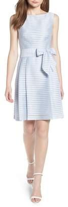 Anne Klein Sleeveless Shadow Stripe Dress