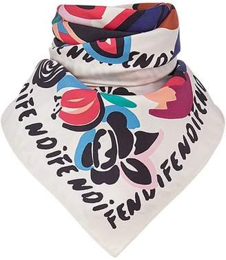 Fendi floral foulard square scarf
