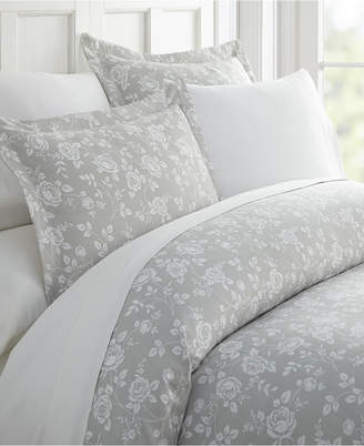 Ienjoy Home Home Collection Premium Ultra Soft Rose Gray Pattern 3 Piece Duvet Cover Set, Twin/Twin Xl Bedding