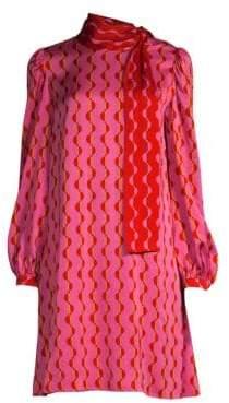 Beatrice. B Tie-Neck Graphic Print Shift Dress