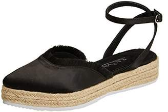 ... Sixty Seven SixtySeven Women s Pearl Closed Toe Sandals, Black (Satin  Thread Negro C40199) 5fb7184082fc