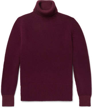 Richard James Wool And Cotton-Blend Rollneck Sweater