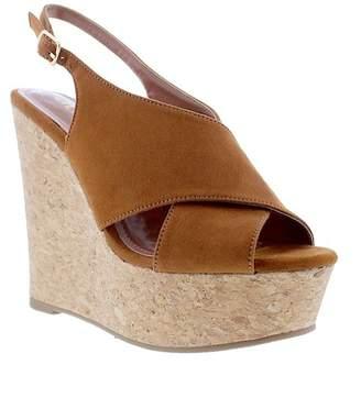 aa8d07f962b2 ... Liliana Anneka Slingback Wedge Platform Sandal