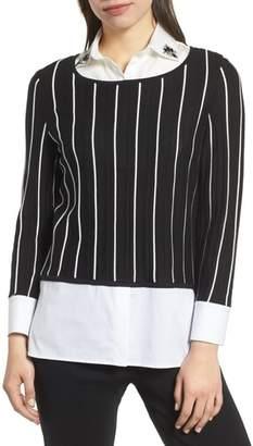 Ming Wang Layered Tunic Top