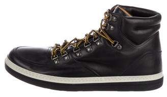 Gucci GG Leather Hiking Boots