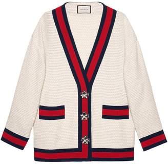 Gucci Oversize tweed cardigan jacket