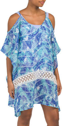 Cold Shoulder Swim Cover-up