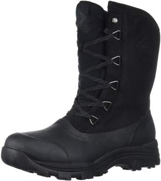 Muck Boot Muck Arctic Outpost Mid-Height Lace-Up Leather & Rubber Men's Winter Boots Black/Grey