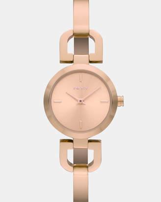DKNY Reade Rose Gold -Tone Analogue Watch