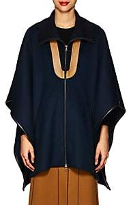 Derek Lam Women's Wool Zip-Front Poncho Jacket - Navy