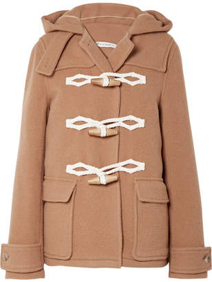 J.W.Anderson Hooded Wool Duffle Coat - Camel
