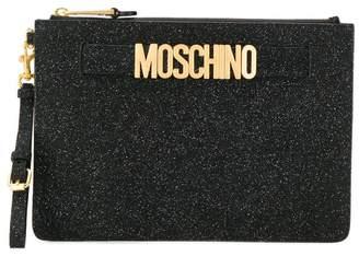 Moschino glittered clutch