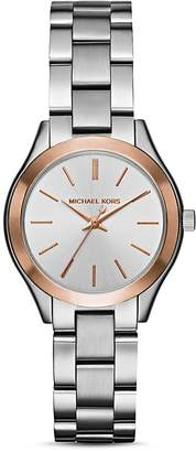 Michael Kors Two-Tone Mini Slim Runway Watch, 33mm