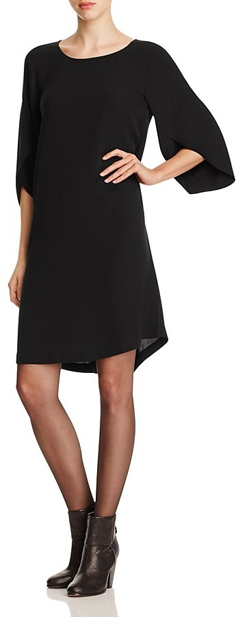 Eileen Fisher Tulip Sleeve Silk Dress