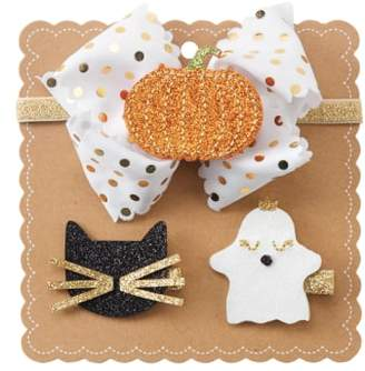 Mud Pie Halloween 3-in-1 Bow
