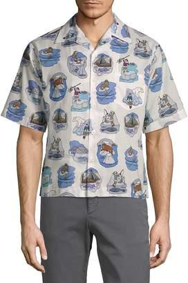Prada Men's Cotton Ice Fishing Shirt