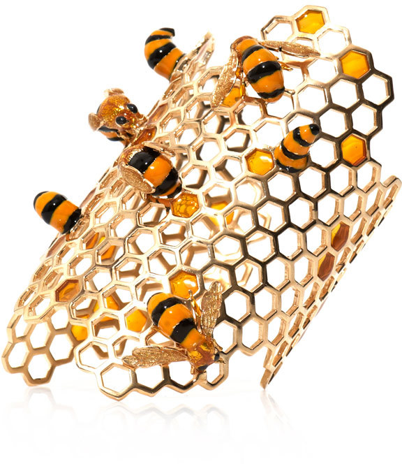 Delfina Delettrez Gold-plated To Bee or Not To Bee cuff