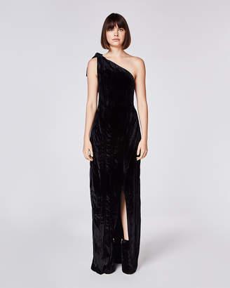 Nicole Miller Crinkled Velvet Gown