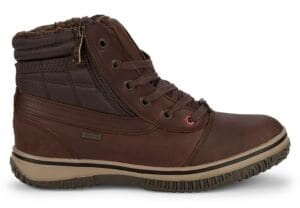 Faux-Shearling Lined Leather Active Boots