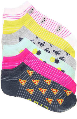 Mix No. 6 Meow No Show Socks - 6 Pack - Women's