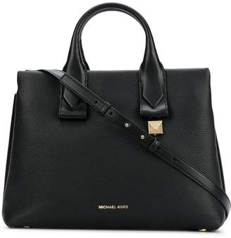 466052661a ... france michael michael kors rollins large leather satchel bag d7680  780fc