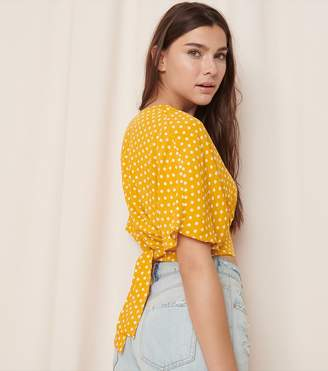 Garage Cropped Top With Back Tie