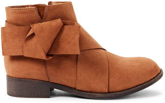 Nina Kids Girls) Tan Dollee Bow Ankle Boots