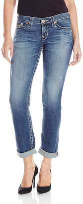 Big Star Women's Kate Straight With Embroidered Back Pockets In Distressed
