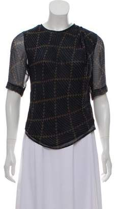 Etoile Isabel Marant Silk Short Sleeve Top