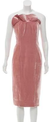 Cinq à Sept Strapless Velvet Mini Dress
