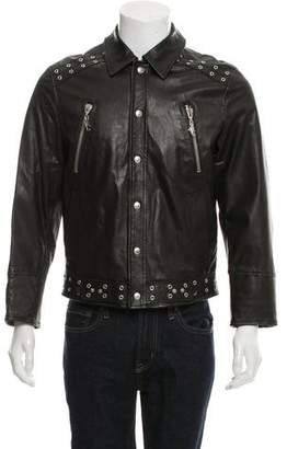 Versace Leather Studded Jacket