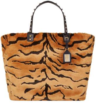 5b8fd165f485 at Harrods · Dolce   Gabbana Beatrice Tiger Faux Fur Shopping Bag