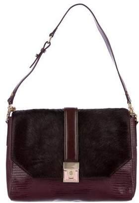 BCBGMAXAZRIA Ponyhair-Trimmed Shoulder Bag