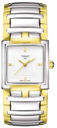 Tissot Women's T-Evocation Two-Tone Bracelet Watch, 23mm