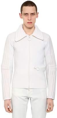 Maison Margiela Padded Collar Wool Blend Knit Jacket