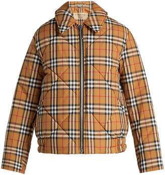 Burberry Knowstone quilted vintage-check bomber jacket