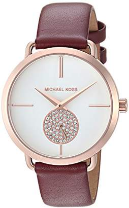 Michael Kors Women's 'Portia Quartz Stainless Steel and Leather Casual Watch
