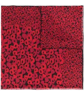 Saint Laurent Poppy square scarf