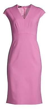 Escada Women's Dhavva Cap-Sleeve Wool Sheath Dress