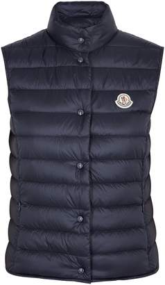 Moncler Liane Navy Quilted Shell Gilet
