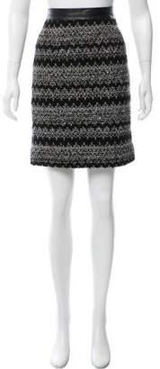 Milly Wool Knee-Length Skirt