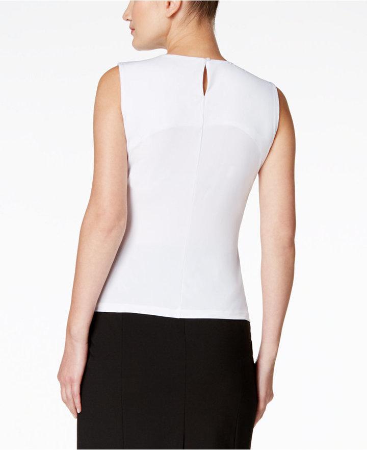 Calvin Klein Sleeveless Pleated Top