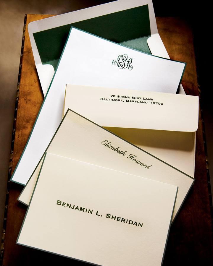 Horchow Hand-Bordered Stationery