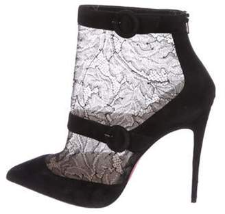 Christian Louboutin Lace Ankle Booties Black Lace Ankle Booties