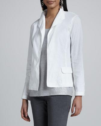 Eileen Fisher Stand Collar Jacket, Women's