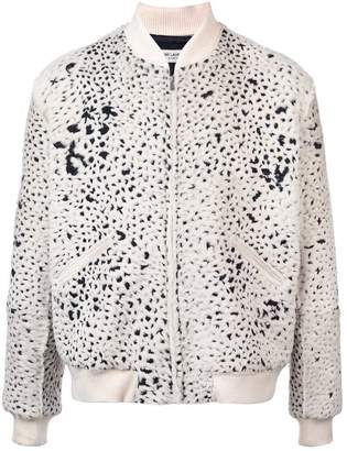 Saint Laurent patterned bomber jacket