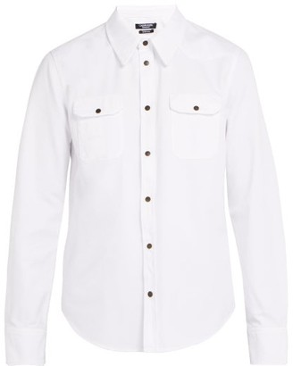 Calvin Klein Western Cotton Shirt - Mens - White